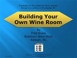 Building Your Own Wine Room