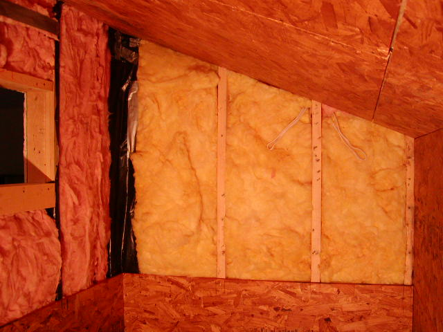 OSB installed over insulation