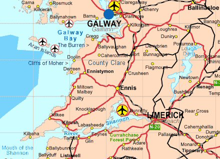 Maps Ireland Counties County Clare Map
